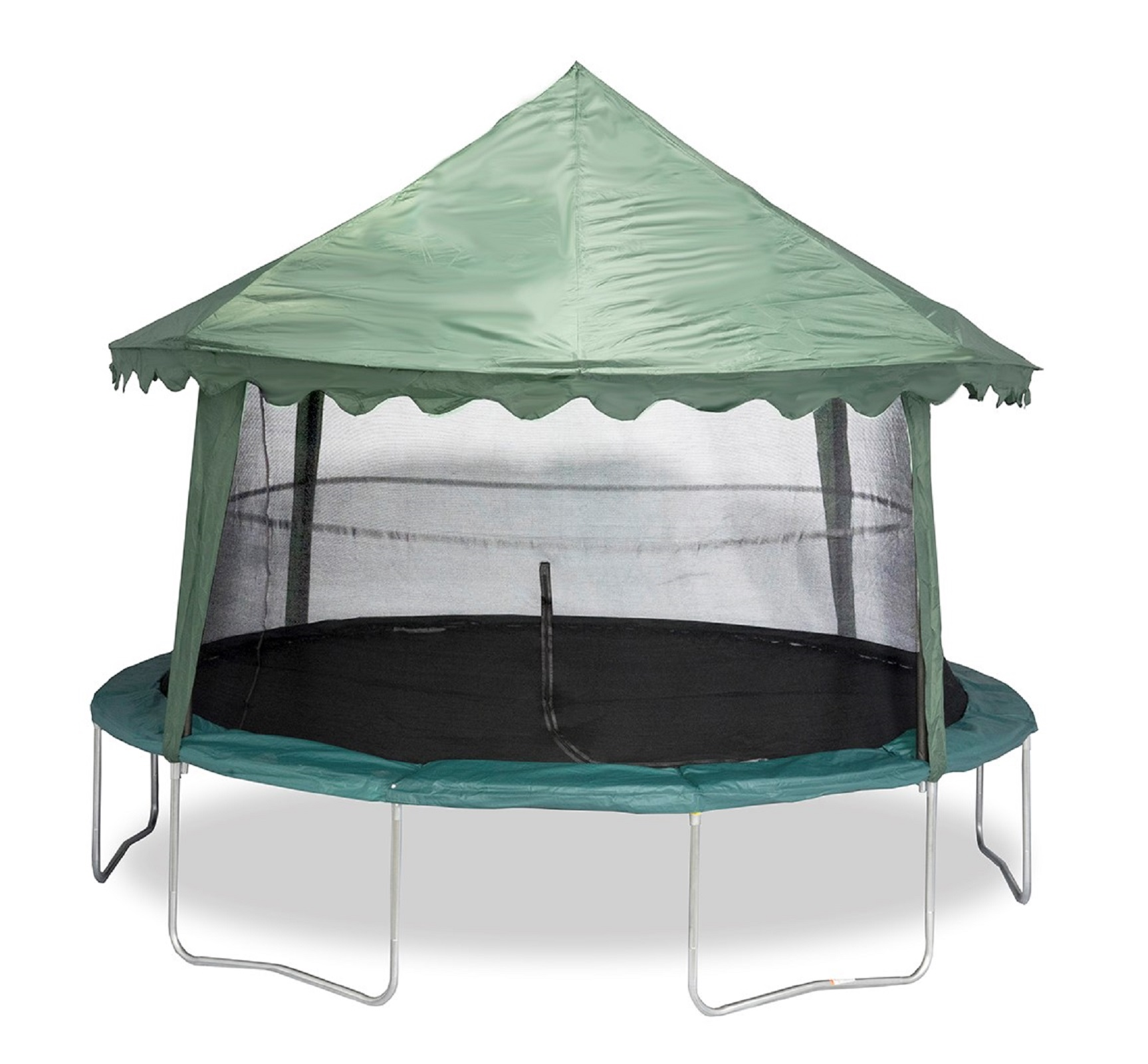 14 ft Solid Green Canopy Cover Style ACC-SGC14 (designed for use ONLY on 4 pole 14 ft enclosure systems)  sc 1 st  Bazoongi™ Kids! & Bazoongi™ Kids! - Trampolines